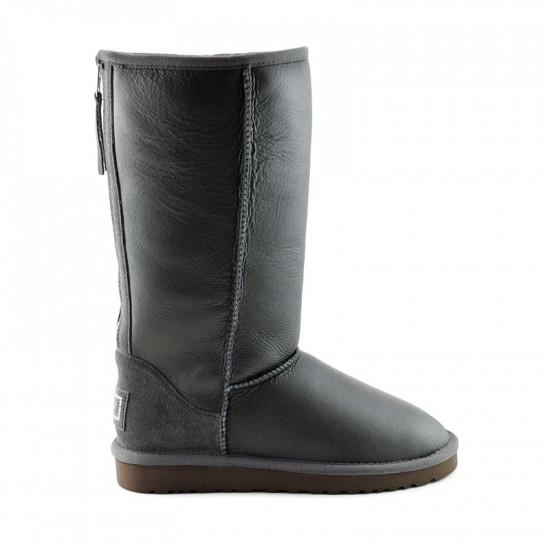 ❎ Женские угги UGG Tall Zip Metallic Grey
