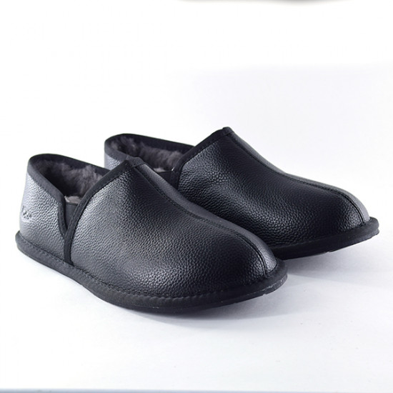 ❎Мужские тапочки UGG Men's SCUFF ROMEO II Leather Black